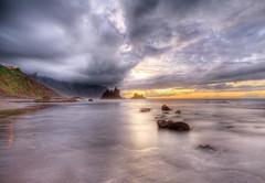 Sonnenuntergang (Alexander Burkhardt) Tags: sunset beach sonnenuntergang tenerife teneriffa hdr 4exp benijo aplusphoto peachofashot