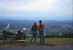 Charlottesville Virginia (Gregg M) Tags: film haze slide scanned bmw motorcycle 1978 ektachrome blueridge r69s canoscan8800f