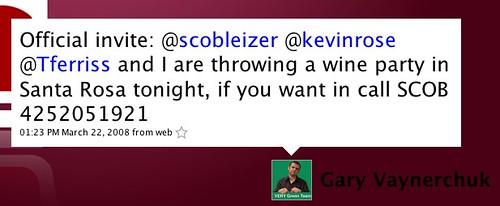 Twitter / Gary Vaynerchuk: Official invite: @scobleize...