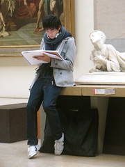 Stalker (Sarah Ross photography) Tags: trip boy people sculpture paris france art person sketch candid human draw museedorsay everydaypeople sarahr89 sarahrossphotography