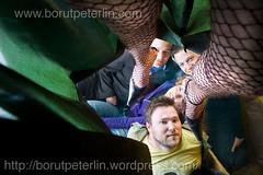 Magdalena Festival organizers (Borut Peterlin) Tags: portrait hairy sexy men festival socks women legs leg group under skirt slovenia ljubljana production peep magdalena collective peeping striptiz voajer