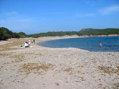 La plage au Sud de la baie de Rondinara