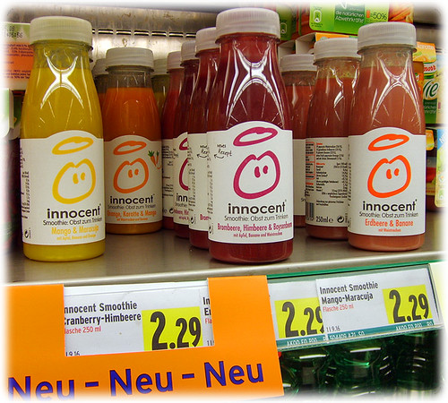 Innocent Smoothies hit the shelves in Austria