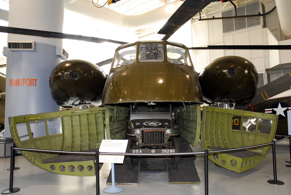 Army Aviation Museum, CH-37 Mojave nose open