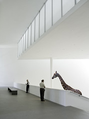 Altered Reality VII - Two Gentlemen and a Giraffe (yushimoto_02 [christian]) Tags: light people lines museum altered canon germany munich mnchen geotagged person persona zoo licht arquitectura singapore europe surreal line moderne architektur reality munchen giraffe museo vanishing soe gentleman girafa pinakothekdermoderne pinakothek gentlemen singaporezoo caballeros architekture alteredreality abigfave canonxsi exploredcanoneosdigitalrebelxsi