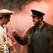 BoHo Theatre - Urinetown - Henry McGinniss (Bobby) and Scott Danielson (Officer Lockstock)