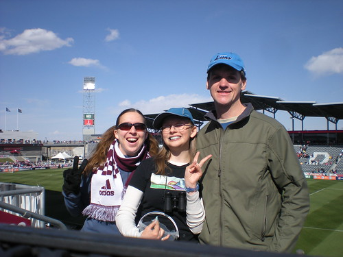 Clare, Emma, and Dennis at Dick's Sporting Goods Park