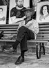 The Local (Johannes Palmer) Tags: old portrait blackandwhite bw man male art hat bench drawings local resting sketches greyscale sittin