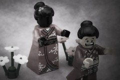 [260/365] Terror (pasukaru76) Tags: japan lego ghost haunted spooky geisha samurai obake canon100mm minifig365