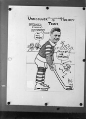 Vancouver (Millionaires) Hockey Team, Vancouver Hockey Club [copy of photo/caricature of Duncan