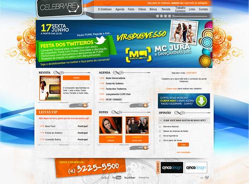 Site Celebrarebar - Parceria com FG1 by chambe.com.br