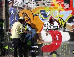 YES KIDS IT'S ACID - Urban Art Attack @ Donaukanal Wien (artpjf) Tags: wien streetart art look graffiti cone kunst urbanart donau nychos vidam dxtr strasenkunst donaukanalwien lowbros