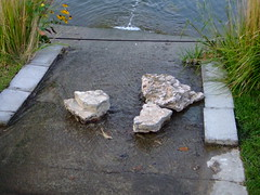 rocks down a stream (John Cockerham) Tags: flowers sunset white lake signs macro window water colors reflections stream spectrum spiders many bees evil tags mailboxes there webs afar repition