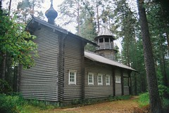 Finland, Wooden Church Русская Православная Церковь (Alan Hilditch) Tags: tower church suomi finland bell august 2006 scandinavia russian orthodox kirkko finlandia finlande церковь saarijärvi русская финляндия православная
