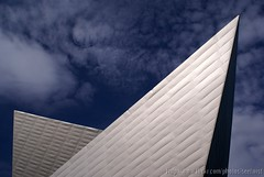 Art Angles 4 (Seetwist) Tags: blue sky cloud reflection building geometric metal triangles silver grey triangle colorado downtown photoshoot geometry denverartmuseum sony broadway angles denver tiles alpha dslr titanium ppg angular 13th civiccenter daniellibeskind fredericchamilton a100k blueskydichromatic britprobst duncanpavilion morganwing