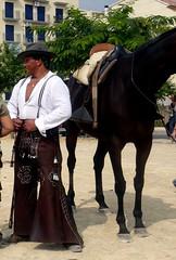 jinete (Marta S. Gufstasson) Tags: horses espaa horse woman white man black blanco valencia caballo caballos spain negro 9 andalucia silla octubre rider jinete taming valence monta andaluz doma tamer horserider spagne galope carcaixent fiestadelcaballo carcagente