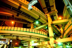 junction (eesti) Tags: japan night d50 tokyo nikon highway traffic overpass junction  expressway redlight bluelight yellowlight shutoko  hakozaki