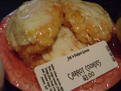 Jan's carrot cookies, Public Market