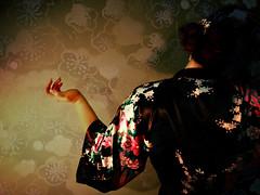 day180 :: miyako odori (mela.de.gypsie) Tags: selfportrait texture painting print japanese dance 11nov silk overlay explore cherryblossom nippon kimono lustre 365days miyakoodori meladegypsie thatsclassy ameliarhea