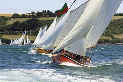 Individual Recall! (doublejeopardy) Tags: sea classic water start canon boat is cornwall sailing racing line sail 75300mm falmouth ef committee movingwater falmouthweek workingboat carrickroads traditionalwoodenboats