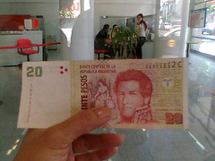 billete de 20 falso
