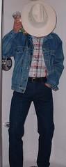 cowboy04 (splishsplash1123) Tags: cowboy jean denim jeanjacket wam westernwear wetdenim