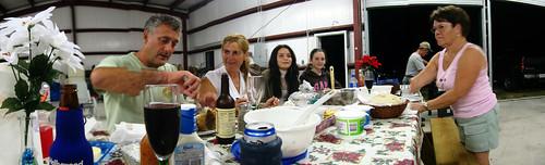 Pre-Christmas dinner at Jene's place, Palmdale, Florida, USA