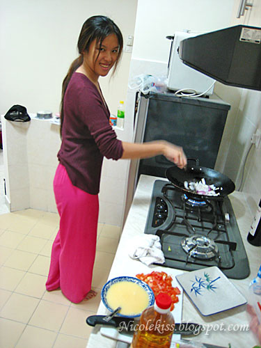 Nicole cooking