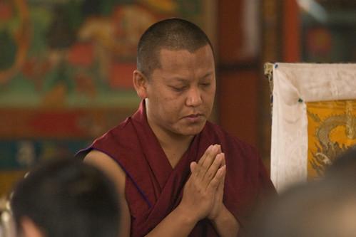Ghar Shyabdug Rinpoche,  Tharlam Monastery, Lam Dre prayers, Boudha, Kathmandu, Nepal by Wonderlane