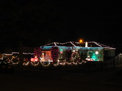 Very well lit Christmas house in Redwood City