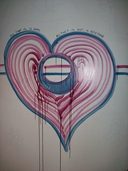 Graffiti Heart (JRGuinness) Tags: wall austin bathroom texas kodak indoors easyshare rutamaya c633