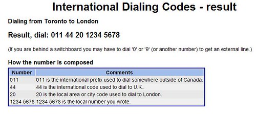 International Dialing Codes - 2 of 2