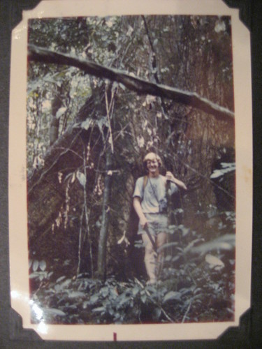 John in front of tree buttress