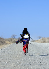 Girl carrying a goat to the market, Danakil, Ethiopia (Eric Lafforgue) Tags: africa people photography day african fulllength culture goat bluesky females copyspace rearview tradition ethiopia ethnic oneperson tribo carrying childlabor hornofafrica ethnology ethiopian afar eastafrica thiopien etiopia ethiopie traditionalclothing realpeople etiopa colorimage  mg0100 danakil etiopija 1people pastoralist ethiopi 89years  africanculture etiopien etipia  etiyopya    asaita  assayta