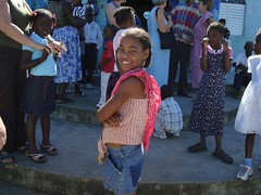 DSC00602 Children at Ascension - outside Church (Alan & Jackie) Tags: kids villages sosua