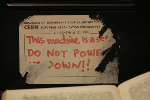 Tag on Tim Berners-Lee's original NeXT machine -- first Web server / Robert Scoble
