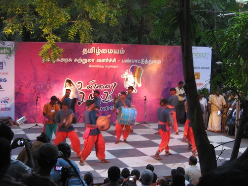 Chennai Sangamam - Paraiyattam in progress..