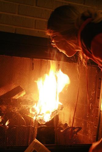 Jenna loves fire...