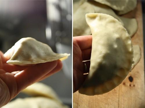 Samosa au boeuf avant la cuisson