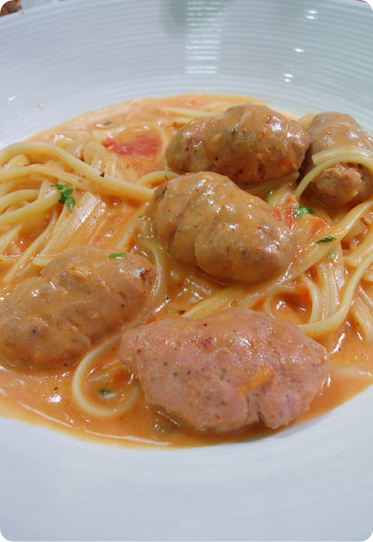 Meat Ball Linguine