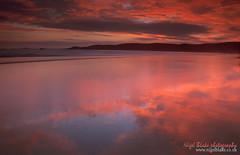 Sunset reflections Newgale Beach, south Wales (Nigel Blake, 12 MILLION...Yay! Many thanks!) Tags: sunset red reflection beach southwales wales newgale