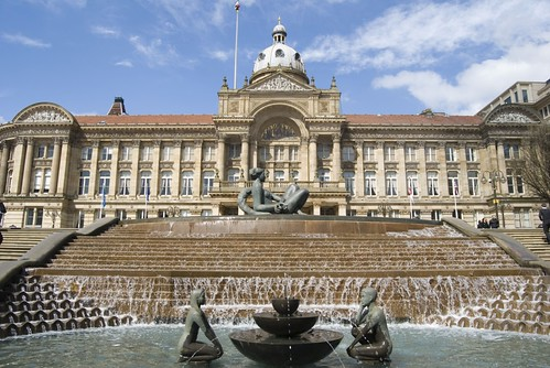 The Floozy in the Jacuzzi outside the Birmingham Council House...