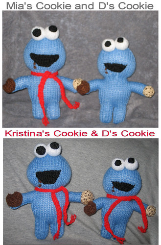 Cookie Monsters for Mia, Kristina, and D