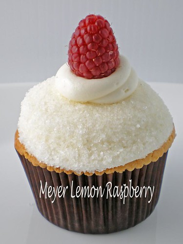 Vanilla Bake Shop - Meyer Lemon Raspberry cupcake