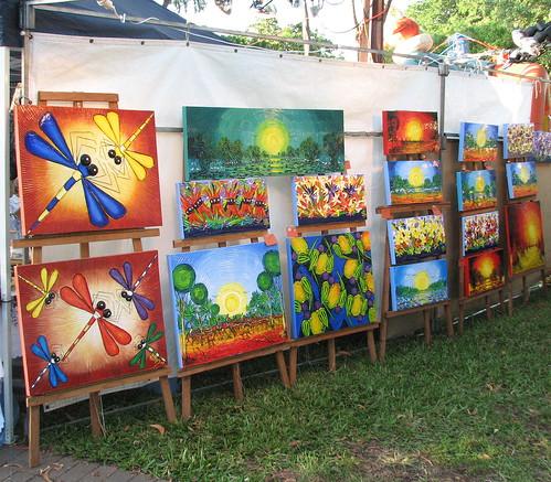 Stalls, Mindil Beach Market,