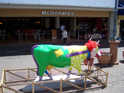 Ronald McDonald Cow in San Jose, Costa Rica