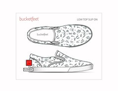 BucketFeet_Low Top Slip On (appaloosa_design) Tags: bucketfeet spoonflower tatoo handstyle naive infantile childish graffiti kids baby children luckycharm