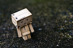 Danbo In The Rain (craigmdennis) Tags: water rain stone toy floor danbo solumn