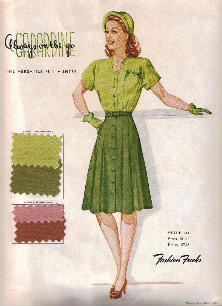 "Fashion Frocks ""Always on the Go Gabardine"" 1946"
