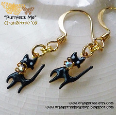 Purrfect me earrings